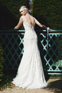 Robe de mariée en dentelle de Calais
